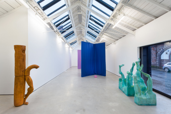 Installation view, 'Carve a hole in the rain for yer', The Modern Institute, Osborne Street, 2021