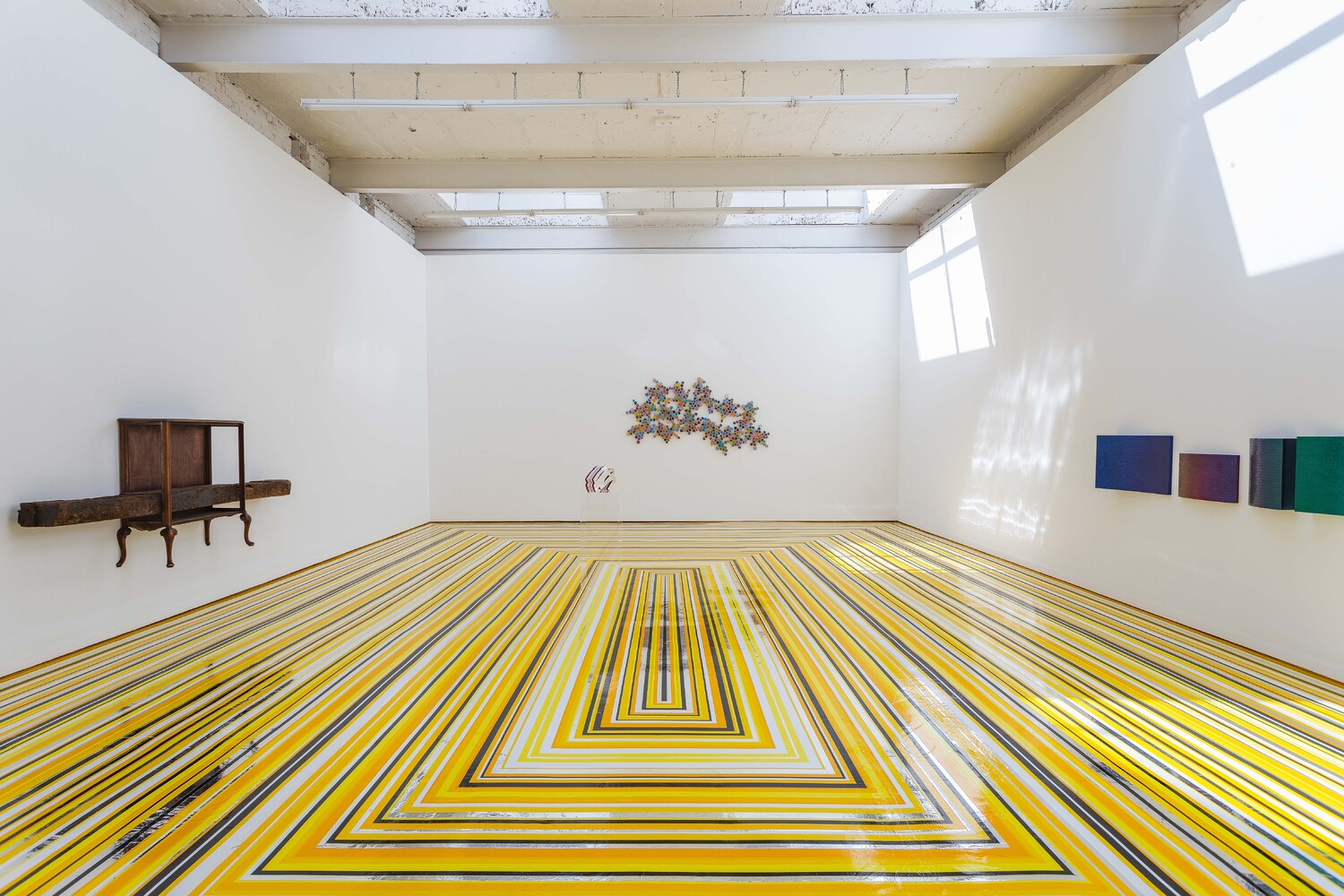Installation view Jim Lambie 'Buttercup' The Modern Institute, Aird's Lane, 2021