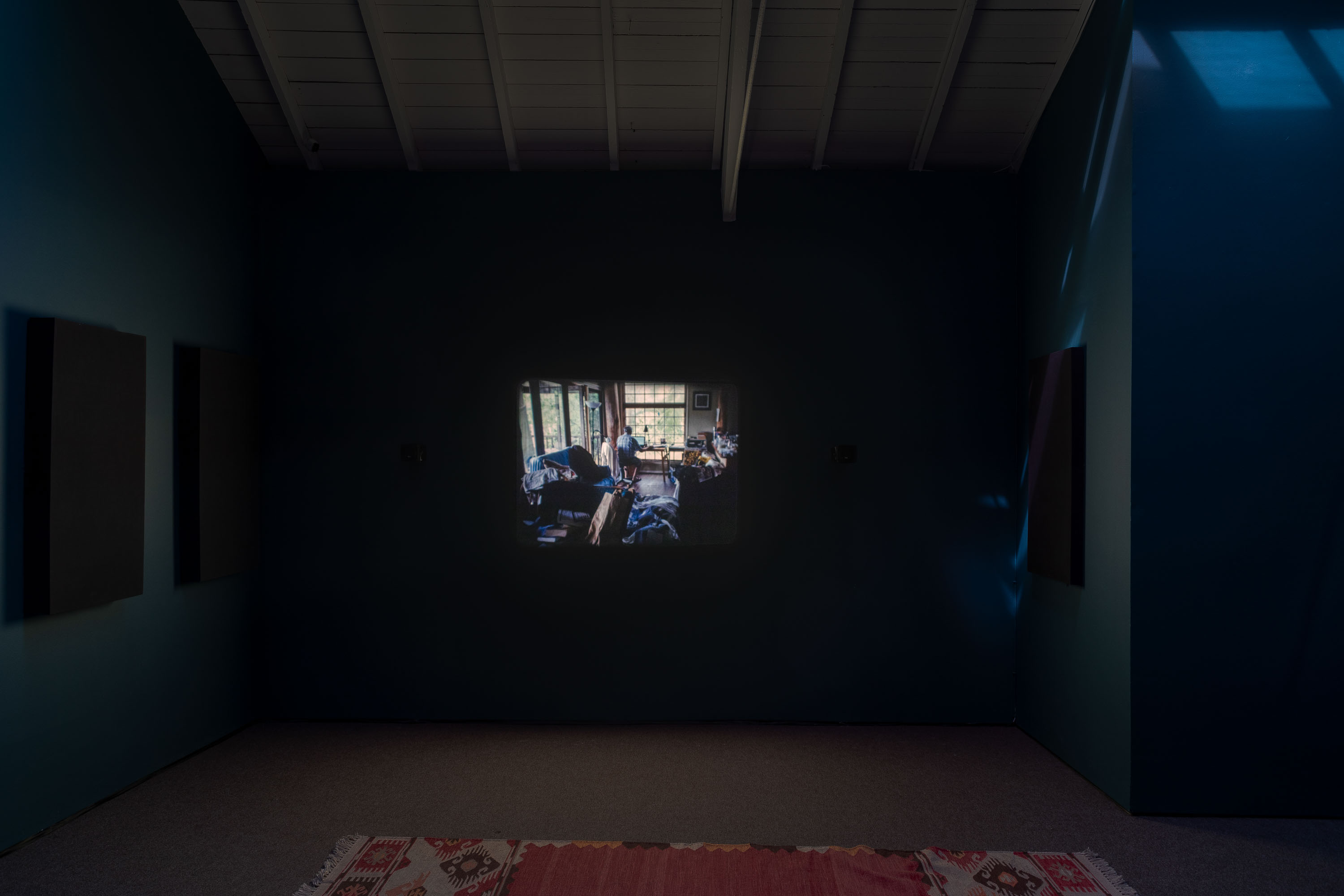 For Dan, 2020, 16mm with mono sound, Duration: 12 mins, Installation view 'Index Cards and Letters', The Modern Institute, Osborne Street, 2021 (Part of Glasgow International 2021)