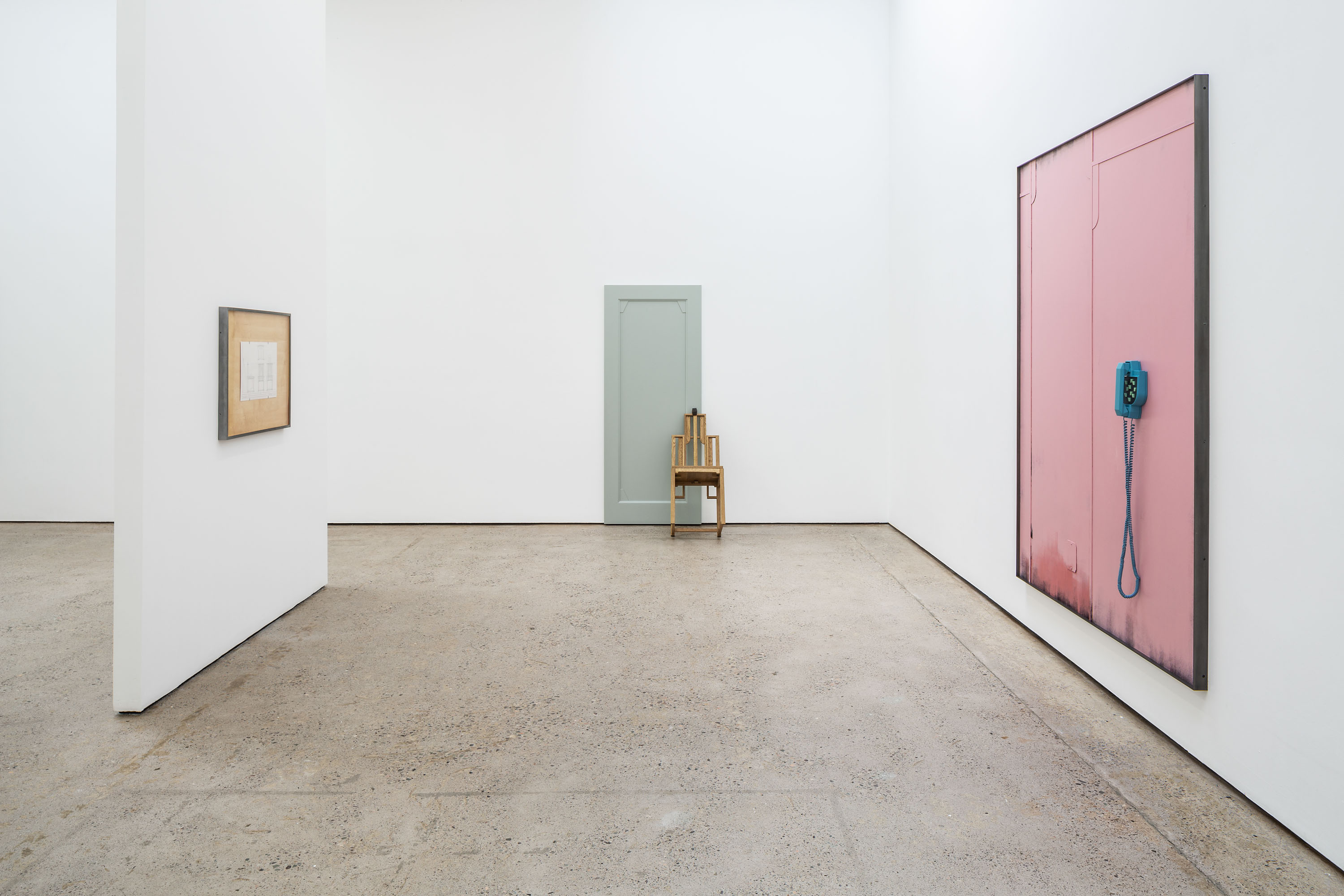 Installation view 'No Clouds or Streams No Information or Memory', The Modern Institute, Aird's Lane, 2021