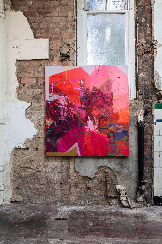 Populators, 2021, Oil on canvas, 130 x 120 cm