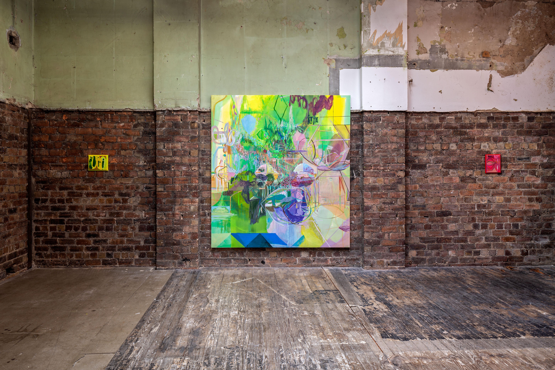 Installation view 'SLEEP LINE', The Modern Institute, Aird's Lane Bricks Space, 2021