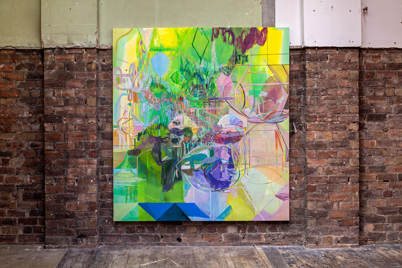 Sleep Line, 2021, Oil on canvas, 220 x 200 x 3.5 cm